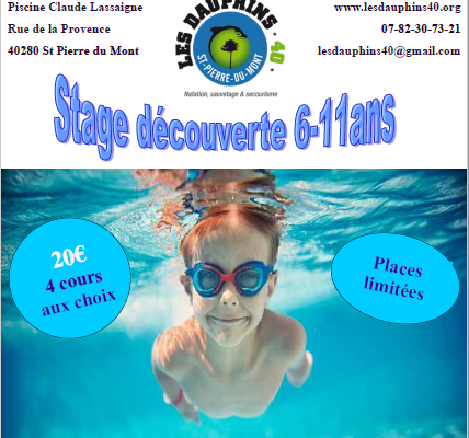 Stage Découverte 6 à 11 ans